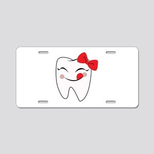 Girly Tooth Aluminum License Plate