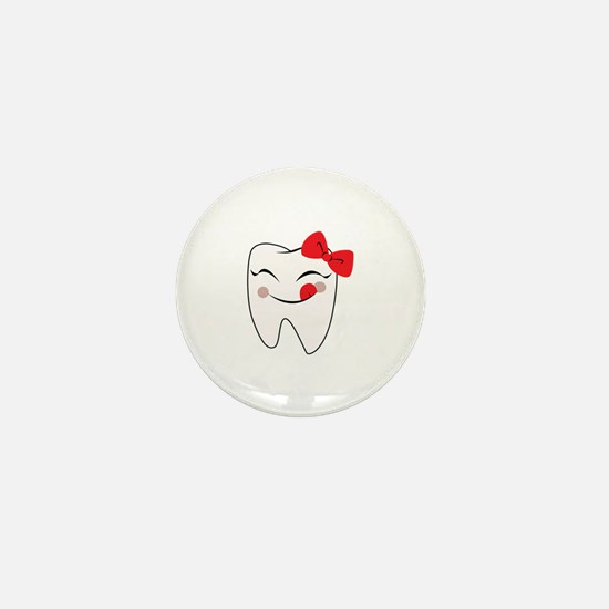 Girly Tooth Mini Button