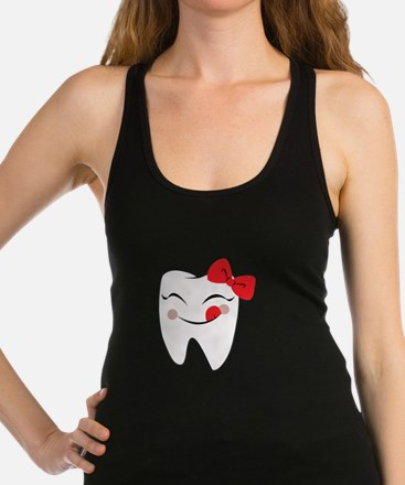 Girly Tooth Racerback Tank Top