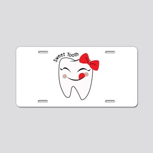 Sweet Tooth Aluminum License Plate
