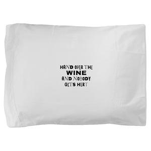 FIN-hand-over-wine Pillow Sham