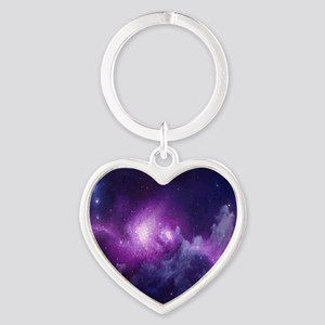Milky Way Heart Keychain