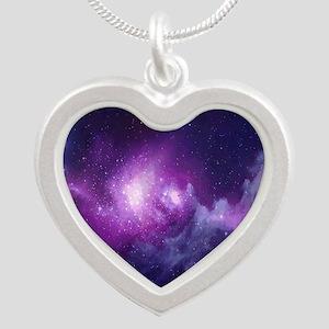 Milky Way Silver Heart Necklace