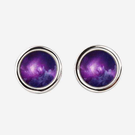 Milky Way Round Cufflinks