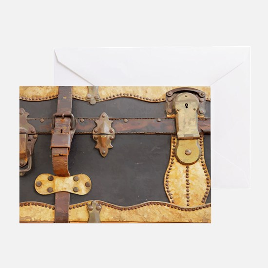 Steampunk Luggage Greeting Card