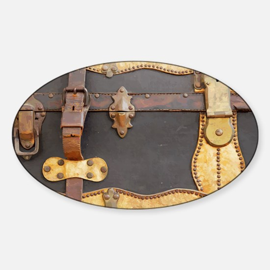 Steampunk Luggage Sticker (Oval)