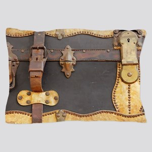 Steampunk Luggage Pillow Case