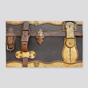 Steampunk Luggage Area Rug