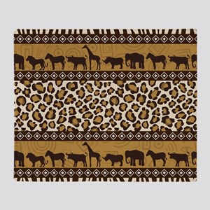 African Safari Throw Blanket