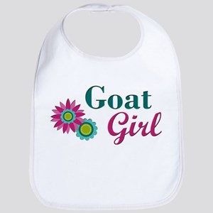 Goat Girl w flower Baby Bib