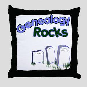 Genealogy Rocks Throw Pillow