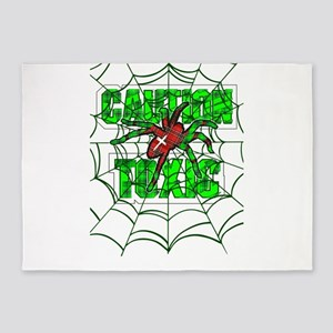 Caution toxic spider 5'x7'Area Rug