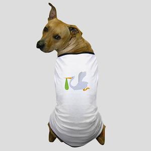 Flying Stork Dog T-Shirt