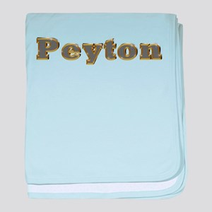 Peyton Gold Diamond Bling baby blanket