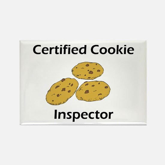 Certified Cookie Inspector Rectangle Magnet