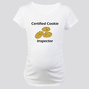 Certified Cookie Inspector Maternity T-Shirt