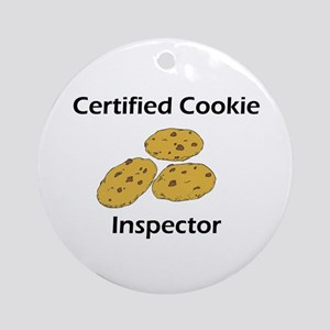 Certified Cookie Inspector Ornament (Round)