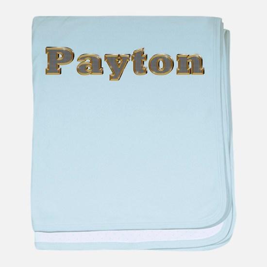 Payton Gold Diamond Bling baby blanket