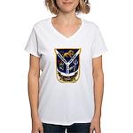 USS JESSE L. BROWN Women's V-Neck T-Shirt