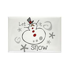 Let It Snow 2 Rectangle Magnet