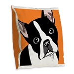 Dog Lover Burlap Throw Pillow