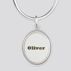 Oliver Gold Diamond Bling Silver Oval Necklace