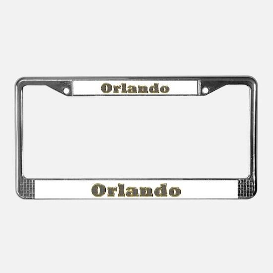 Orlando Gold Diamond Bling License Plate Frame