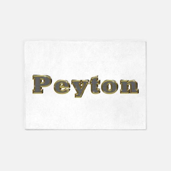 Peyton Gold Diamond Bling 5'x7' Area Rug