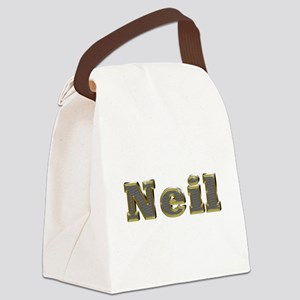 Neil Gold Diamond Bling Canvas Lunch Bag