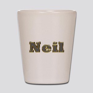 Neil Gold Diamond Bling Shot Glass