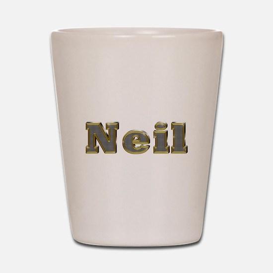 Neil Gold Diamond Bling Shot Glass
