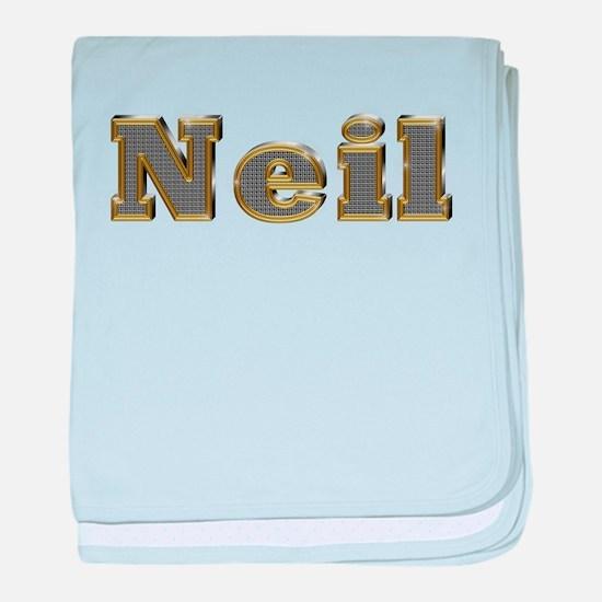 Neil Gold Diamond Bling baby blanket