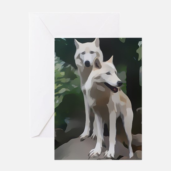 Cute Wolf woods Greeting Card