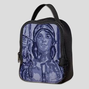 joanofarc_purple_Iamnotafraid.p Neoprene Lunch Bag