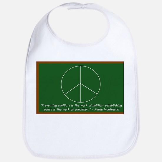 Montessori Peace Quote Bib