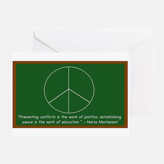 Montessori Peace Quote Greeting Card