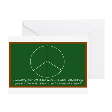Montessori Peace Quote Greeting Cards (Pk of 10)