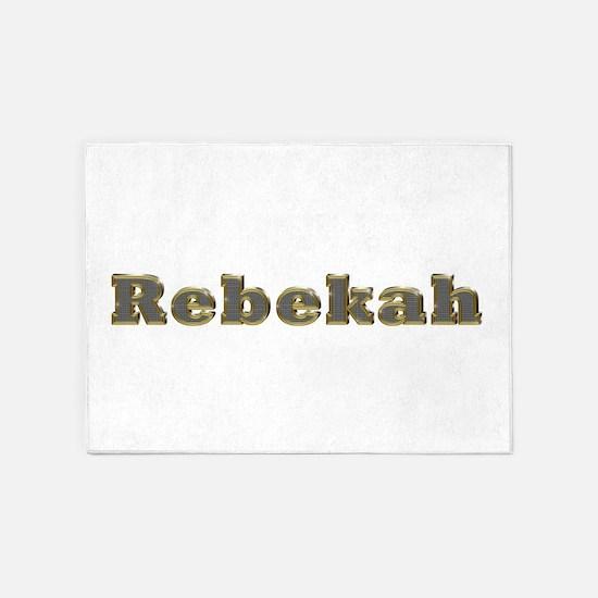 Rebekah Gold Diamond Bling 5'x7' Area Rug