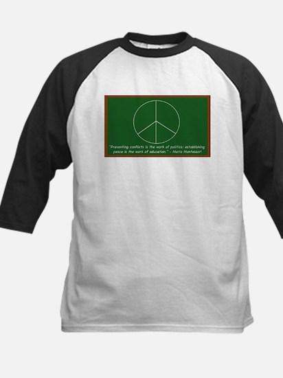 Montessori Peace Quote Kids Baseball Jersey
