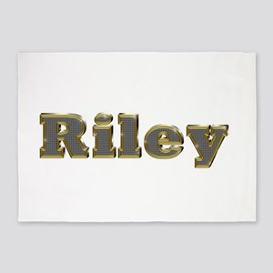 Riley Gold Diamond Bling 5'x7' Area Rug