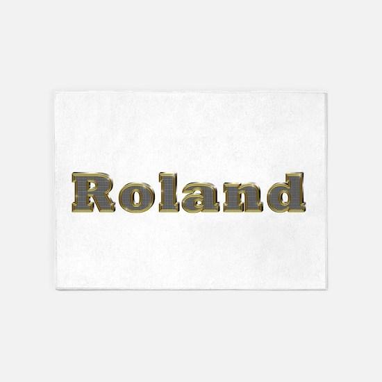 Roland Gold Diamond Bling 5'x7' Area Rug