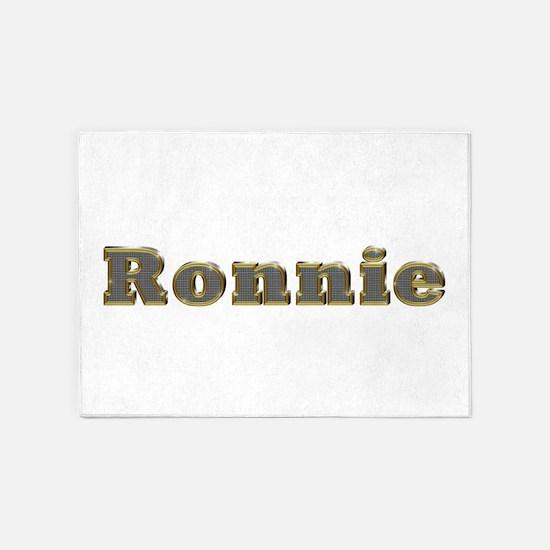 Ronnie Gold Diamond Bling 5'x7' Area Rug