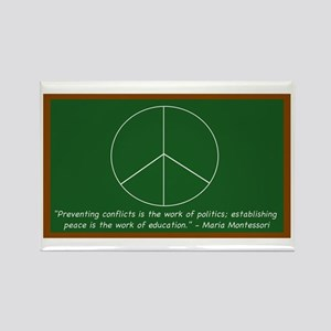Montessori Peace Quote Rectangle Magnet