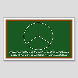 Montessori Peace Quote Rectangle Sticker