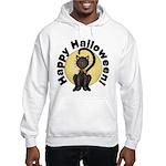 Black Cat Full Moon Hooded Sweatshirt