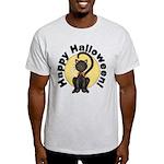 Black Cat Full Moon Light T-Shirt