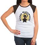 Black Cat Full Moon Women's Cap Sleeve T-Shirt