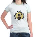 Black Cat Full Moon Jr. Ringer T-Shirt