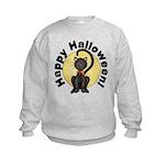 Black Cat Full Moon Kids Sweatshirt