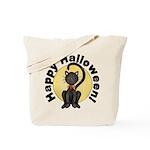Black Cat Full Moon Tote Bag